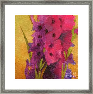 Gladiolas No. 2 Framed Print by Melody Cleary