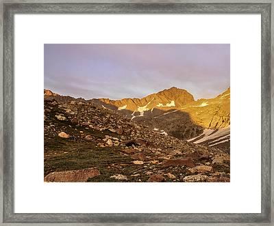 Gladstone Peak Framed Print by Aaron Spong