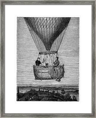 Glaisher-coxwell Balloon Flight Framed Print