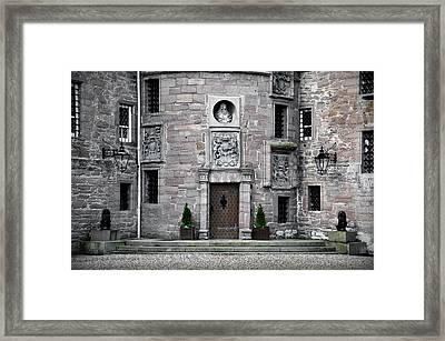 Glamis Castle. Doorway Framed Print