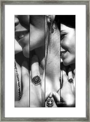 Glamorous Panels Framed Print