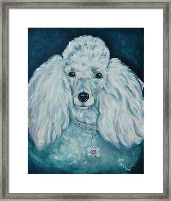 Glamorous Poodle Framed Print by Gail McFarland