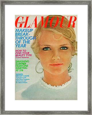 Glamour Cover Featuring Cherryl Tiegs Framed Print