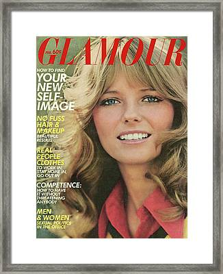 Glamour Cover Featuring Cheryl Tiegs Framed Print by William Connors