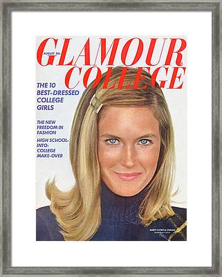 Glamour Cover Featuring Mary Patricia Cogan Framed Print