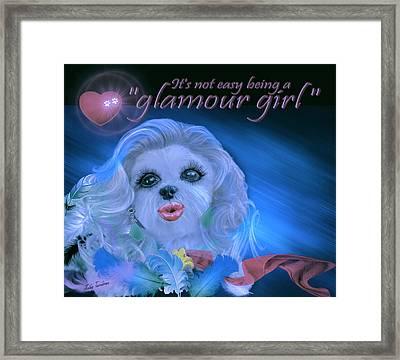 Glamour Girl-2 Framed Print
