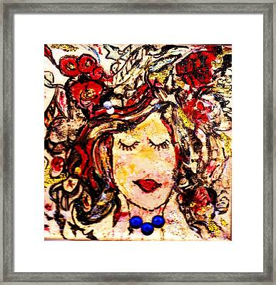 Glamour Girl Framed Print by Anne-elizabeth Whiteway
