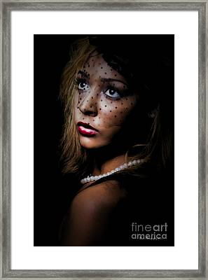 Framed Print featuring the painting Glamour by Linda Blair