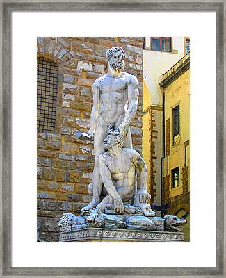 Glance At Hercules And Casus Framed Print