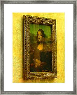 Glance At Mona Lisa Framed Print by Oleg Zavarzin