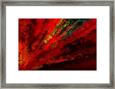 Glance Of Colors Framed Print by Lourry Legarde