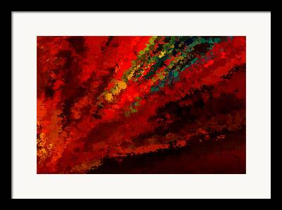 Shades Of Red Digital Art Framed Prints