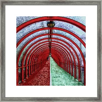 Glasgow Arcs Painting Framed Print by Antony McAulay