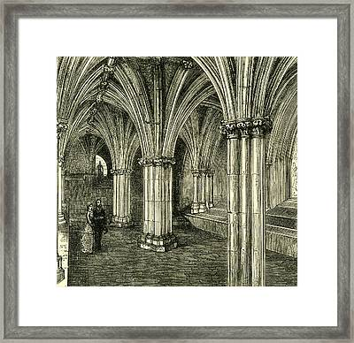 Glasgow Cathedral 1880 The Crypt Framed Print by English School