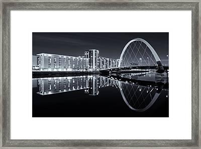 Glasgow In Black And White Framed Print