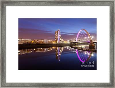 Glasgow River At Night Framed Print