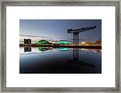 Glasgow River Clyde Reflection Framed Print by Grant Glendinning
