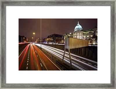 Glasgow Rush Hour Framed Print