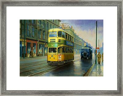 Glasgow Tram. Framed Print by Mike  Jeffries