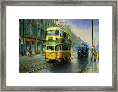 Glasgow Tram. Framed Print