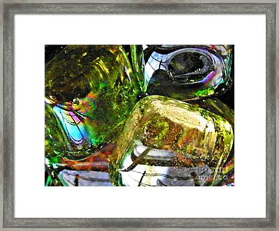 Glass Abstract 119 Framed Print by Sarah Loft