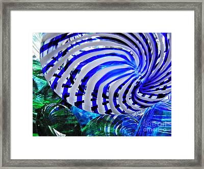 Glass Abstract 203 Framed Print by Sarah Loft