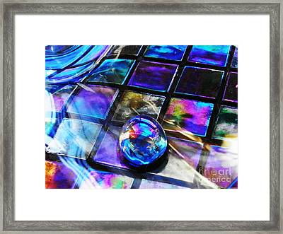 Glass Abstract 256 Framed Print