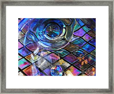 Glass Abstract 262 Framed Print by Sarah Loft