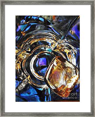 Glass Abstract 278 Framed Print