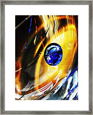 Glass Abstract 281 Framed Print by Sarah Loft