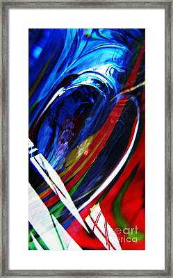 Glass Abstract 293 Framed Print by Sarah Loft