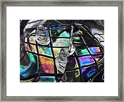 Glass Abstract 368 Framed Print by Sarah Loft