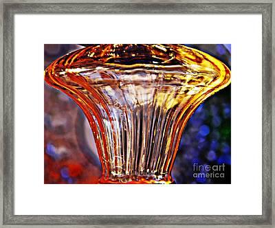 Glass Abstract 562 Framed Print by Sarah Loft