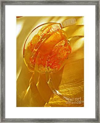Glass Abstract 581 Framed Print by Sarah Loft