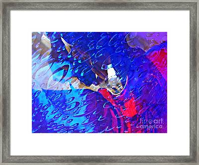 Glass Abstract 597 Framed Print