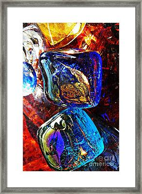 Glass Abstract 685 Framed Print by Sarah Loft
