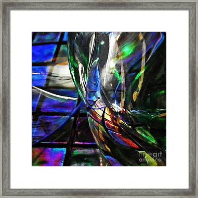 Glass Abstract 707 Framed Print by Sarah Loft