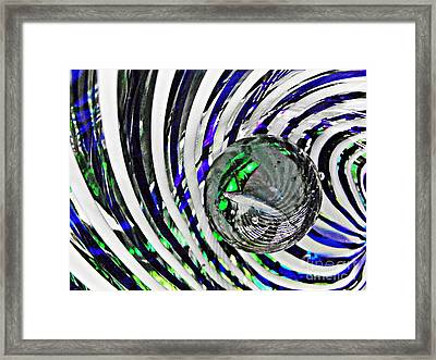 Glass Abstract 89 Framed Print