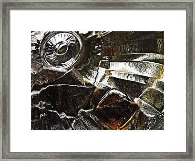 Glass Abstrct 454 Framed Print
