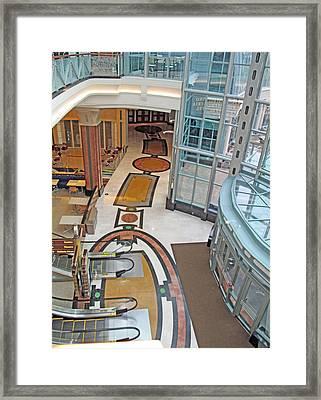 Glass And Mosaic Framed Print by Barbara McDevitt