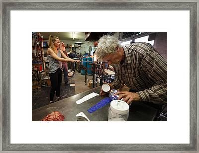 Glass Art Process Framed Print by Paul Indigo