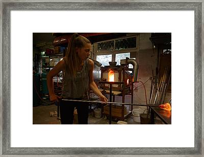 Framed Print featuring the photograph Glass Artist by Paul Indigo