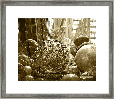Glass Balls Japanese Glass Buoys Framed Print by Artist and Photographer Laura Wrede