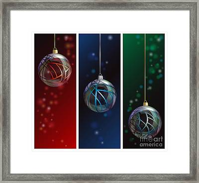 Glass Bauble Banners Framed Print by Jane Rix