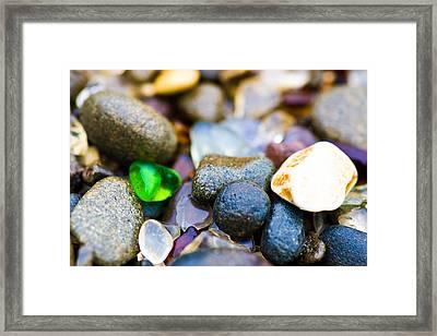 Glass Beach Treasures Framed Print