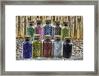 Glass Beads Framed Print by Tracy  Hall