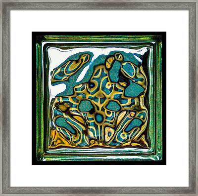 Glass Block Abstract 3 Framed Print by Dee Dee  Whittle