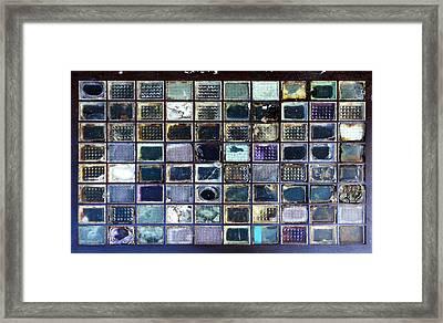 Glass Blocks In Sidewalk Framed Print by Artistic Photos