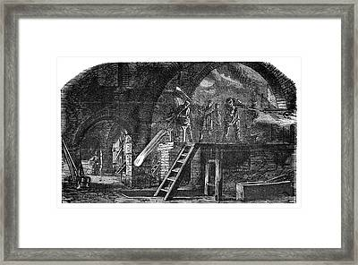 Glass-blowing Industry Framed Print by Science Photo Library
