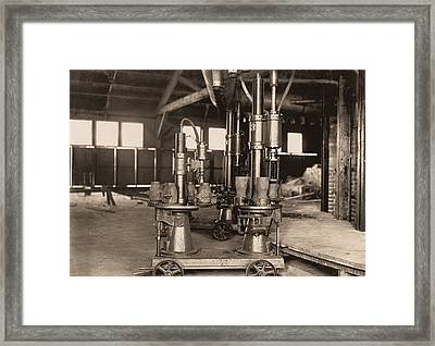 Glass-blowing Machine, 1908 Framed Print by Science Photo Library